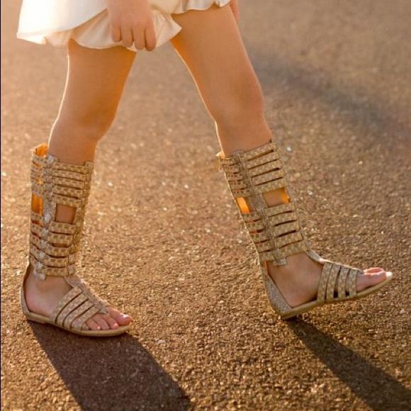 81cb9aa9aff Joyfolie Other - Gold Bridgette Gladiator Sandal - Girls